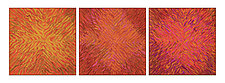 Chrysanthemum Triptych by Tim Harding (Fiber Wall Piece)