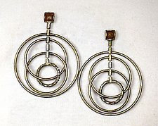 Spinning Hoop Earrings by Sarah Cavender (Brass Earrings)