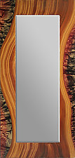 Painted Wood River Mirror by Ingela Noren and Daniel  Grant (Painted Wood Mirror)