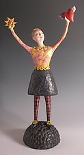 A Quiet Joy by Patty Carmody Smith (Mixed-Media Sculpture)