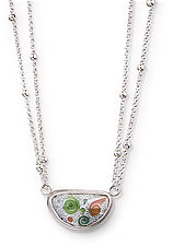 Beach Waves Cloisonne Necklace by Nancy Troske (Enameled Necklace)