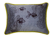 Swimming on Sky by Laura Goldstein (Silk Pillow)