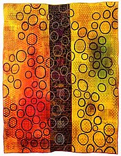 Geoforms: Porosity #5 by Michele Hardy (Art Quilt)