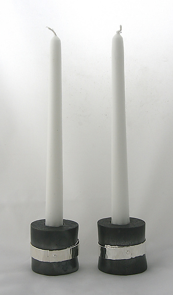 Wide Belted Candlestick
