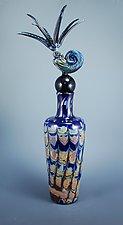 Ammonite Vase by Jeremy Sinkus (Art Glass Vessel)