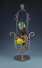 Jelly Tang Reef Frame Sculpture by Jeremy Sinkus (Art Glass Sculpture)