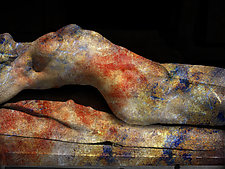 Stretching Nude by Michael Williams (Color Photograph)