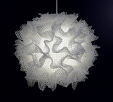 Bone Puff by Josh Urso (Fiber Pendant Lamp)