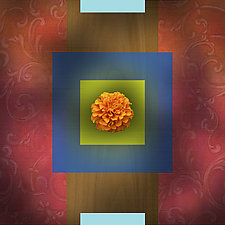 Baroque Flower - Marigold by Robin Krauss (Giclée Print)