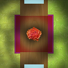 Baroque Flower - Ruffled Rose by Robin Krauss (Giclée Print)