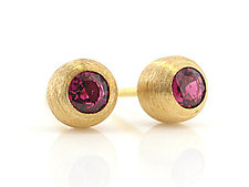 Duality Stud by Catherine Iskiw (Gold and Stone Earrings)