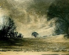 Winter Scene by Elizabeth Holmes (Infrared, Hand Painted Photograph)