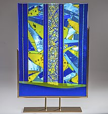 Beyond the Blue Sea by Varda Avnisan (Art Glass Sculpture)