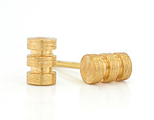 Plain Torno Mini-Stud by Catherine Iskiw (Gold Earrings)