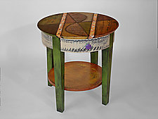 Round End Table by Wendy Grossman (Wood Table)