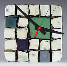 Tribeca: Sage by Nina  Cambron (Art Glass Clock)
