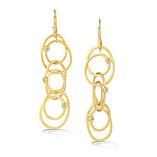 Scribble Loophole Earrings by Dana Melnick (Gold & Stone Earrings)
