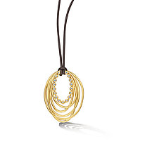 Scribble Wreath Pendant by Dana Melnick (Gold & Stone Pendant)
