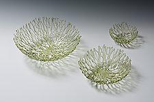 Light Amber Nest by Heather Palmer (Art Glass Sculpture)