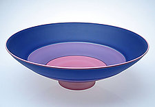 Frosted Three Part Blue Incalmo Bowl by Nicholas Kekic (Glass Bowl)