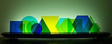 Euclid by Bernie Huebner and Lucie Boucher (Art Glass Sculpture)