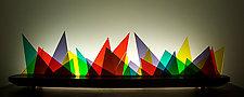 Scalene by Bernie Huebner and Lucie Boucher (Art Glass Sculpture)