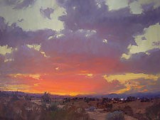 Sunset on the Jemez by Robert Kuester (Oil Painting)