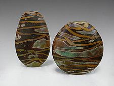 Amber Safari Vessel by Thor Bueno (Art Glass Vase)
