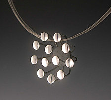 Twelve Dot Blossom by Theresa Carson (Silver Pendant)