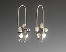 Five Dot Floral Earrings  by Theresa Carson (Silver Earrings)