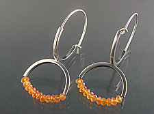 Double Arc Dangle  by Theresa Carson (Silver & Stone Earrings)