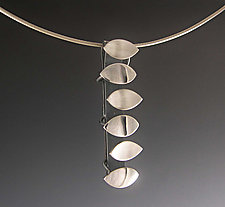 Six Leaves by Theresa Carson (Silver Pendant)