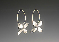 Four Petals by Theresa Carson (Silver Earrings)