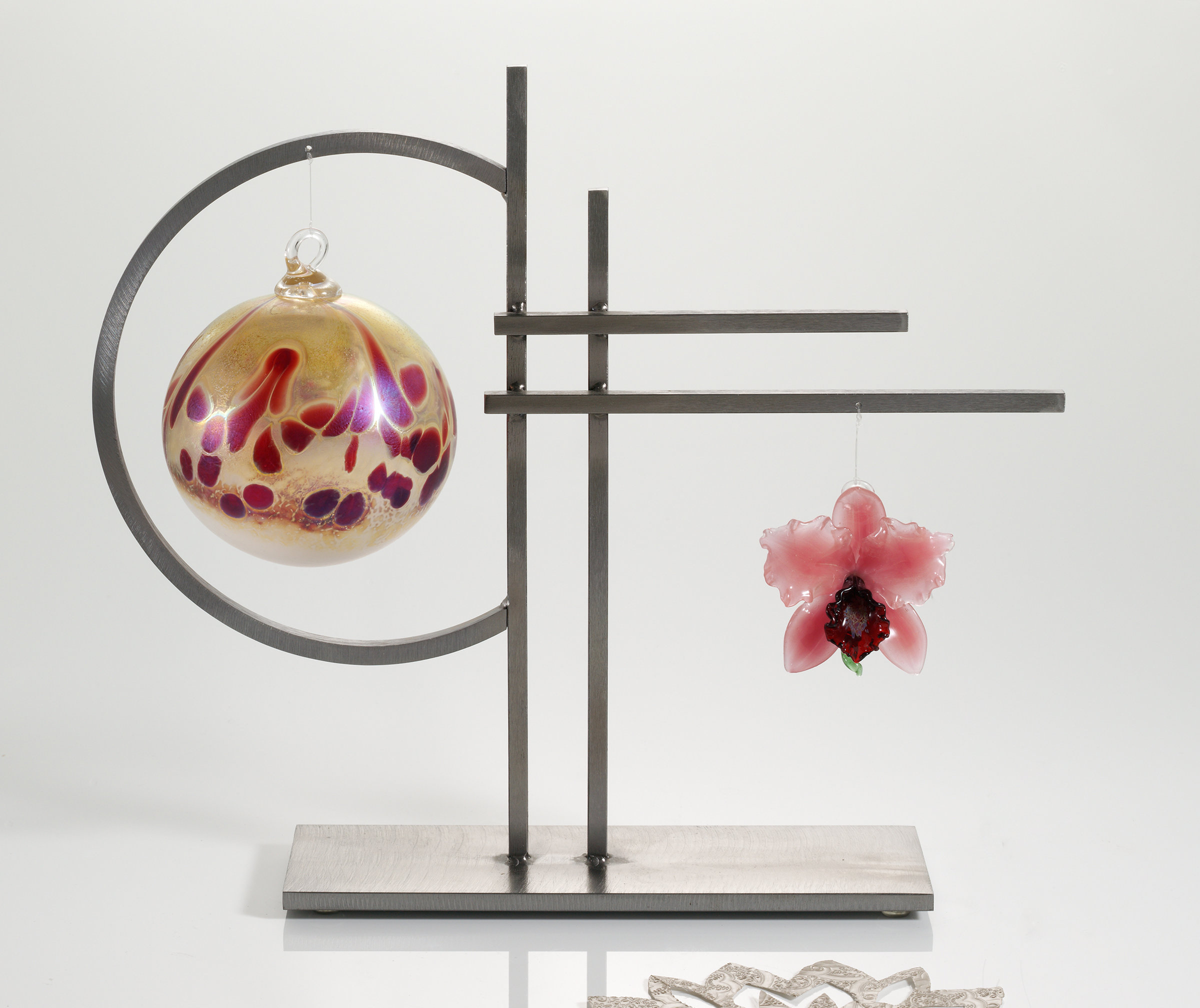 Double Ornament Display By Ken Girardini And Julie