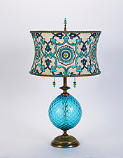Ingrid by Susan Kinzig and Caryn Kinzig (Mixed-Media Table Lamp)
