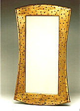 Gold Leaf Mirror with Scoops by Kipley Meyer (Wood Mirrors)