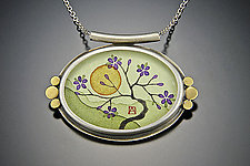 Plum Blossom Necklace by Ananda Khalsa (Gold Pendant)