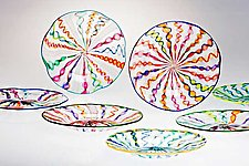 Cane Plates by Robert Dane (Art Glass Plate)