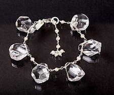 Ice & Pearl Bracelet by Kathleen Lynagh (Silver, Pearl, & Stone Bracelet)