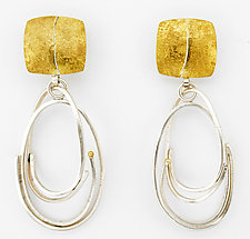 Silver Scribble Loop Earrings by Sydney Lynch (Gold & Silver Earrings)