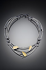 Sticks and Petals Necklace by Lori Gottlieb (Silver & Bimetal Necklace)