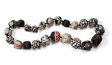 Kantha Necklace by Mieko Mintz  (Silk Necklace)
