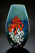 Landscape Series Vase Opal Tall by Shawn Messenger (Art Glass Vase)