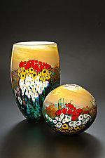 Landscape Series Vase Yellow Gold by Shawn Messenger (Art Glass Vase)