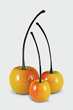 Rainier Cherries by Donald  Carlson (Art Glass Sculpture)