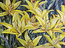 Yellow Lilies by Helen Klebesadel (Watercolor Painting)