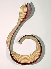 Red Clef by Kerry Vesper (Wood Wall Sculpture)