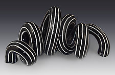 Undulation 2 by Lisa Scroggins (Ceramic Sculpture)