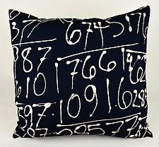 Fibonacci Square by Ayn Hanna (Cotton & Linen Pillow)