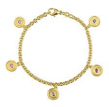Sapphire Facades Medallion Bracelet by Alyssa Reiner (Gold & Stone Bracelet)